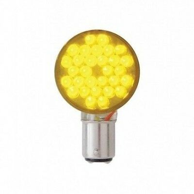 Super Bright 30 Diode Amber LED 1157 Bulb Clear Lens With Right Angle