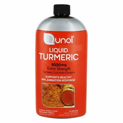 Qunol - Liquid Turmeric Curcumin Complex Extra Strength Tropical Orange 1000 mg.