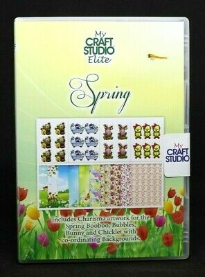 My Craft Studio Elite SPRING CD ROM Floral & Animal Easter Toppers Backgrounds