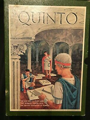 Vintage 1968 Quinto Board Game 3M Bookshelf Games USA Fascinating Game of 5's