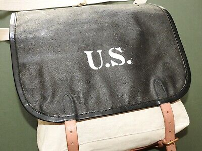 "US Army Indian Wars ""TARRED"" M-1874 CLOTHING BAG MINT WPG Pack Carrier"