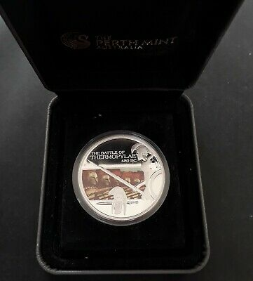 2009 Tuvalu Famous Battles Series : Thermopylae  31gm 99.9% Silver $1 coin