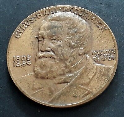 1931 United States Cyrus Hall McCormick Centenary of the Reaper Bronze Medal