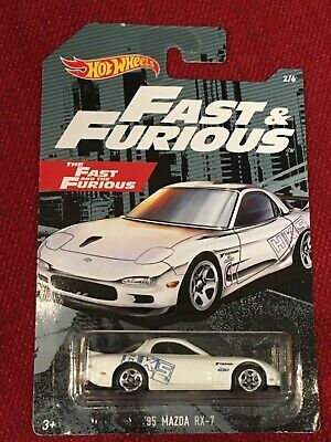 Hot Wheels Fast /& Furious 95 Mazda RX 7 2//6 White