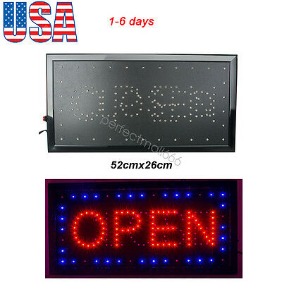 110 / 220V Bright Animated Motion Running Neon LED Business Store Shop OPEN Sign