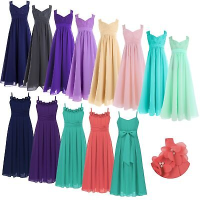 Girls Wedding Bridesmaid Flower Girl Dress Pageant Party Prom Princess Dresses