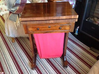Antique Mahogany Sewing / Card Cabinet . Good For Age . Pick Up Only .