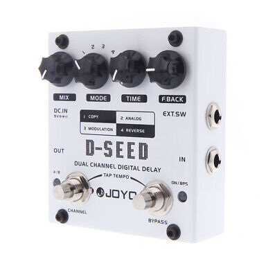 JOYO D-SEED Dual Channel Digital Delay Guitar Effect Pedal with Four Modes M7M8