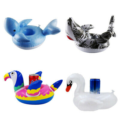 Inflatable Floating Swimming Pool Beach Drink Can Cup Beer Holder Boat Beach MC