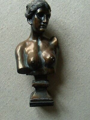 Small Bust of Greek Lady in Resin with Bronze effect finish
