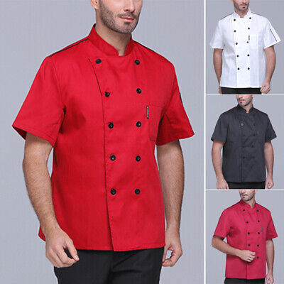 Mens Tops Male Shirts T-shirt Stand Collar Tops Cook Solid Shirts Loose Fit Vest