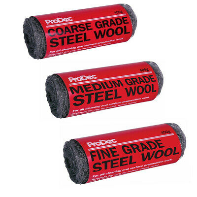 ProDec Steel Wool Wire Fine Medium Coarse Smoothing Rust Cleaning Metal 400g