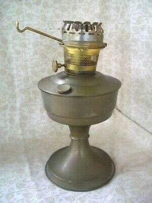 "Vintage Solid Brass  Paraffin Oil Lamp , Aladdin 23 ~12 1/2 "" High~No Glass"