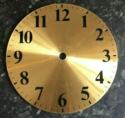 Brass Replacement Clock Dials. Gold, brass, 6 inches.