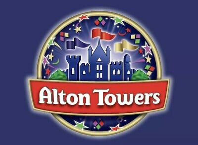 ALTON  TOWERS TICKETS x 2 for *** Saturday 7th of September 2019 *** (e-tickets)
