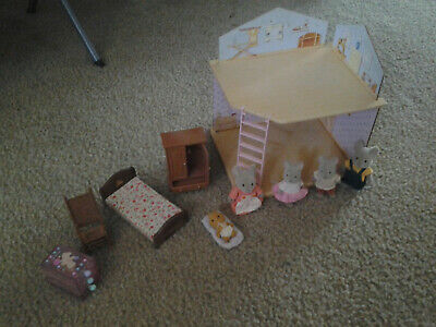 vintage bandai tonka Maple Town playhouse and doll set house and mouse family