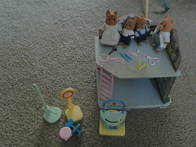 vintage bandai tonka Maple Town playhouse and doll set doctor's office