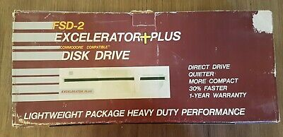 Commodore 1541 aftermarket FDD, floppy disc drive, Excelerator Plus FSD-2