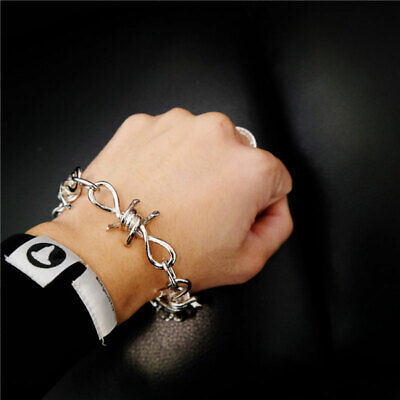 Fashion Thorns Bracelet Chain Gothic Punk Jewelry For Man Hip Hop Metal Alloy