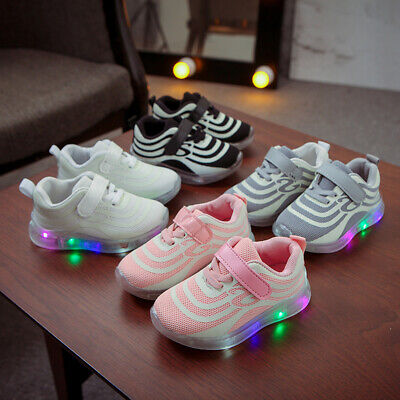 LED Children Kids Boys Girls Light Up Sneakers Baby Luminous Shoes Trainers AU