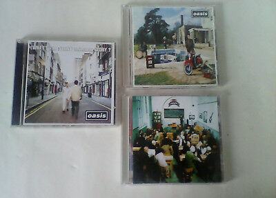 cd joblot oasis whats the story morning glory/ be here now/ the master plan