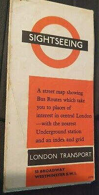 Map London Transport 'Sight-Seeing' 1970