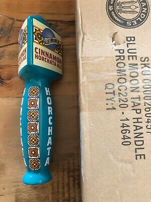 """Blue Moon Cinammon Horchata Tap Handle New In Box Blue Man Cave 10"""""""