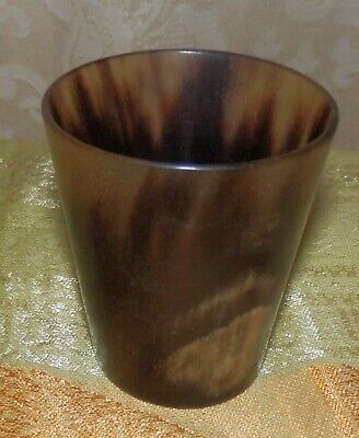 Beautiful antique bovine horn beaker