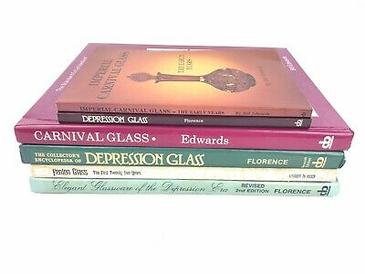 Fenton Imperial Carnival Depression Glass Collector Book Guides Set Lot