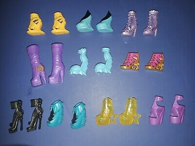 Girls Doll Clothes Lot of 10 Pairs Shoes Boots Fits Monster High