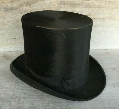 Antique Dunlap Man's Black Top Hat estate find