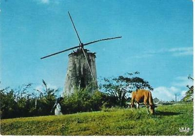 Marie-Galante, Guadeloupe - old windmill - postcard c.1970s