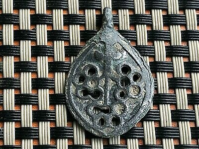 Ancient Byzantine Medieval Medallion Pendant 700-900 Ad Very Rare