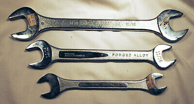 3 Open Ended Wrenches Blue Grass Master Mechanic