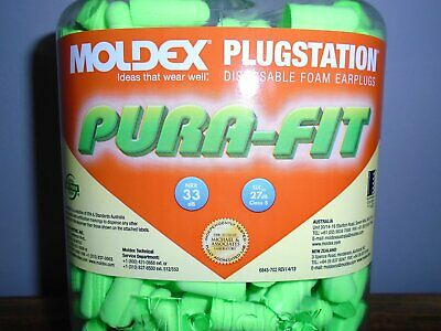 Moldex Ear Plugs~33Db~Pura-Fit~#6800~500 Ear Plugs~250 Pair~Dispenser~New In Jar