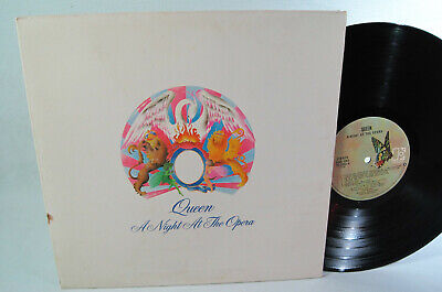 QUEEN Night At The Opera Lp Gatefold 1975 USA Butterfly Electra Label VG+