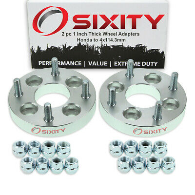 """2pc 4x100mm to 4x114.3mm Wheel Spacers Adapters 1"""" for Honda Accord Civic eq"""