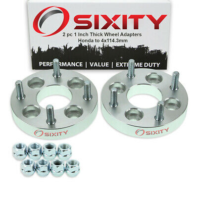 """2pc 4x100mm to 4x114.3mm Wheel Spacers Adapters 1"""" for Honda Accord Civic vc"""