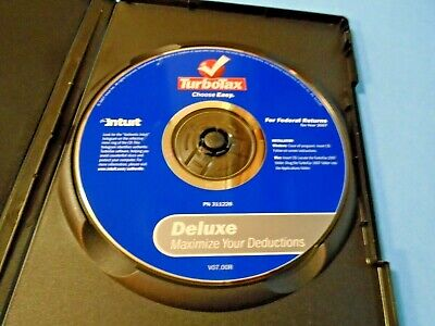 2007 TurboTax Deluxe Federal Turbo Tax CD Do Back Taxes