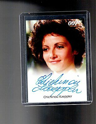 James Bond Archives Chichinou Kaeppler Autographed card