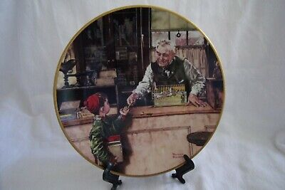 "The Edwin M Knowles China  Plate ""Back To School"" Norman Rockwell 8.5"""