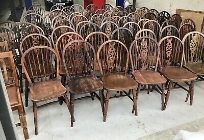 Large Collection Of Antique Style Dining Chairs Ideal For Pubs & Restaurants Etc