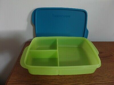Tupperware Large Lunch-It Divided Lunch Container NEW