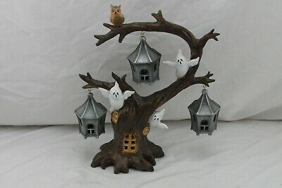 Lenox A Ghoulish Halloween Lighted Tree New in Box Owls Haunted Spooky