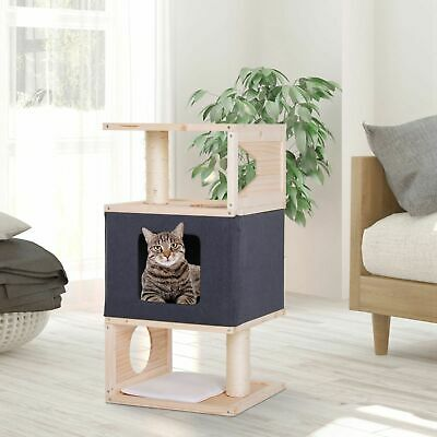 Multi-Level Cat Tree Cat Condo Tower w/ Sisal-Covered Scratching Post Large