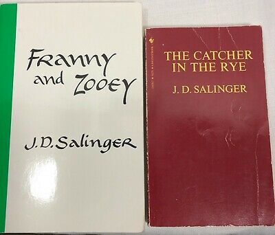 2 J.D. Salinger Books The Catcher in the Rye Franny and Zooey Free shipping