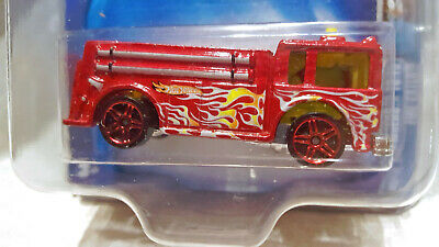 RARE Hot Wheels FIRE EATER red PR5 variation Work Crewsers 10/10 #190 2003
