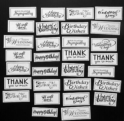 Mixed Sentiments X 30 Pcs # 1 Birthday Father's Day Thank You Sympathy Get Well