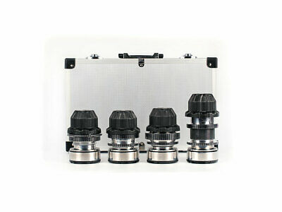 Set of 4 Anamorphic flare & Bokeh Amber Silver Lenses  with PL mount