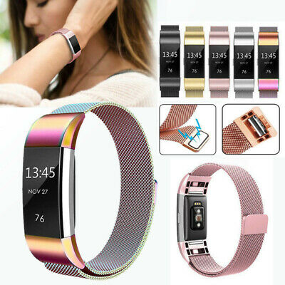 For Fitbit Charge 2 Watch Strap Wrist Band Classic Milanese Stainless Steel Loop